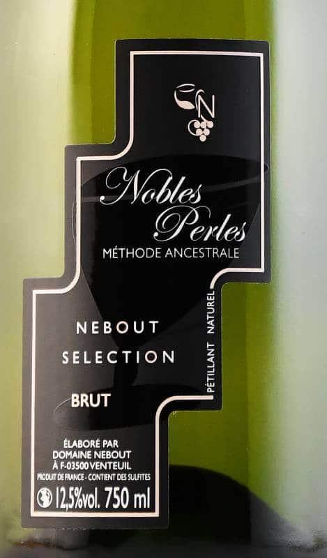 07 Blc Demi Sec Nobles Perles Domaine Nebout Vins Saint pourcain Allier Auvergne