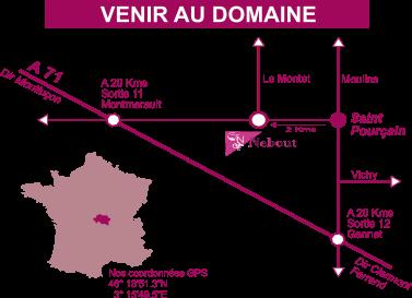 Carte venir au domaine800x600 Vins Saint pourcain Allier Auvergne